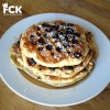 Gluten Free Gingersnap Blueberry Chocolate Chip Pancakes